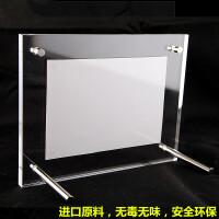 亚克力水晶相框玻璃台卡摆台5678101216寸A4相架证书奖状框 透明色