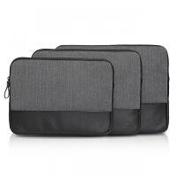 苹果小米联想戴尔Macbook2笔记本电脑内胆包air13.3寸pro14寸15寸 黑色(送电源包+理线条)