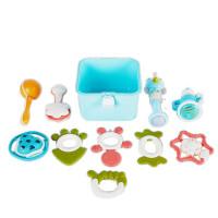曼龙婴幼儿玩具宝宝0-3-6-12个月抓握0-1岁新生儿早教牙胶手摇铃