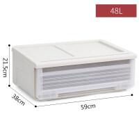 家居生活用品收纳箱透明抽屉式床头衣柜内衣收纳盒大小号塑料整理箱 一件装