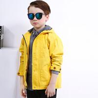 唯思凡儿童装男童外套2018秋装新款休闲风衣中大童夹克开衫