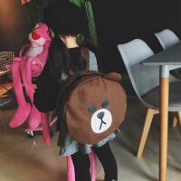 20180430011821506幼儿园书包面包超人小黄鸭布朗熊可爱卡通儿童双肩包韩版潮男女童