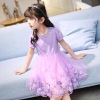 女童裙子夏装新款洋气短袖连衣裙儿童女孩衣服公主裙夏季