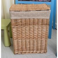 家居生活用品收纳筐竹编收纳篮藤编脏衣篮桶洗衣篓玩具衣服收纳箱带盖