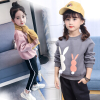 儿童加绒卫衣新款中大童韩版绒衫女童保暖上衣潮童装