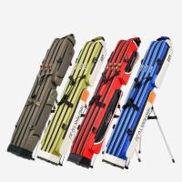 特价鱼包渔具包1.25米三层钓鱼竿包杆包防水硬壳钓鱼用品双肩背包