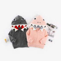 本印苏拉 2018新款韩版儿童外套秋 长袖婴儿恐龙连帽夹克男女童潮服装