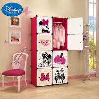 [当当自营]Disney迪士尼米妮8门6格1挂(2列4) 收纳柜储物柜整理柜简易衣柜衣橱(赠磁铁)