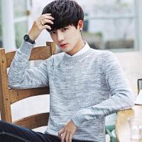 春季男士毛衣 韩版加绒加厚圆领针织衫打底毛衫线衣潮流个性男装Q
