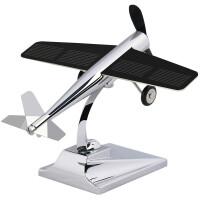 汽车摆件太阳能飞机饰品创意车载摆件飞机模型车内装饰车上汽车用品摆件