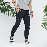 AIRTEX亚特弹力速干裤小脚裤工装长裤修身商务快干夏季新品户外男士时尚裤子