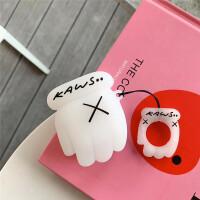 创意暴力熊手套耳机套AirPods保护套潮牌苹果蓝牙保护壳适用KAWS