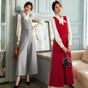 风轩衣度 套装/套裙时尚清新简约修身显瘦气质两件套百搭2018年春季新款 2809