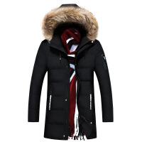 男士棉衣冬季中长款韩版加厚帅气冬