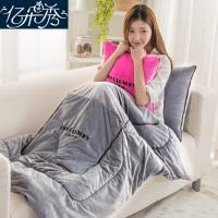 抱枕被子两用珊瑚绒毯子靠垫靠枕头被沙发汽车用午休空调被
