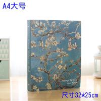A4/4孔活页夹韩国手账本活页笔记本学生文具创意日记记事本子B5A5 A4-80页