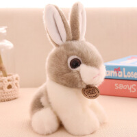 正版小白兔毛绒玩具仿真兔兔公仔布娃娃兔子玩偶儿童生日礼物女孩 全长20厘米