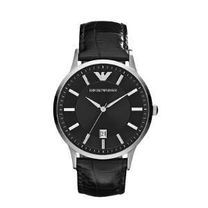 阿玛尼(Emporio Armani)手表 时尚休闲皮带石英时尚腕表男士腕表 AR2411