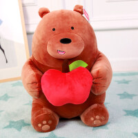正版咱们裸熊毛绒玩具可爱熊猫公仔搞怪抱抱熊抱枕生日礼物送女友