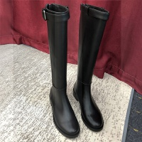 真皮平底长靴女不过膝高筒靴马靴骑士靴加绒长筒靴及膝靴子女SN9070
