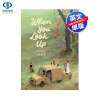 预售英文原版 当你仰望的时候 When You Look Up Decur 精装绘本 儿童英语冒险漫画艺术绘本故事书 7