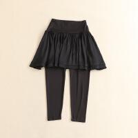 女春装9分裙裤+假两件 短裙a字小脚裤弹力修身打底裤D