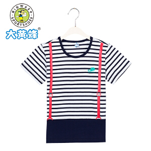 大黄蜂童装 2017夏季男童T恤短袖新款 中小童男孩圆领上衣薄款