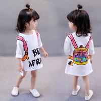 夏季女宝宝韩版T恤 新款女童打底衫短袖上衣纯棉春秋长袖