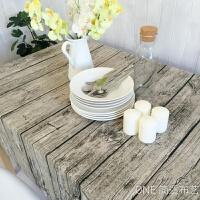 复古木纹棉麻桌布布艺仿真树皮餐桌布长方形茶几布拍照背景布创意 木纹