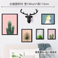 客厅装饰画沙发背景墙北欧风格挂画组合美式墙画壁画现代简约温馨 总占墙面积约:宽190cm*高110cm