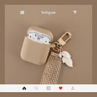 桃花粉树叶苹果airpods2保护套iPhone无线蓝牙耳机硅胶保护盒子套