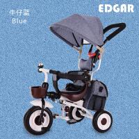儿童三轮车脚踏车1-3-4岁轻便可折叠幼婴儿手推车小孩宝宝自行车
