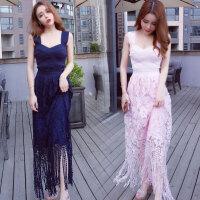 泰国潮牌2018夏季新款旅游吊带性感长裙修身显瘦夜店女装连衣裙潮