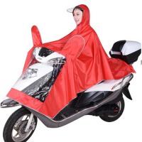 男女单人骑行摩托车雨衣 雨披 成人厚大透明大帽檐电动车雨衣