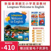新版香港朗文英语教材Longman Welcome to English Gold 4A课本加四本练习册