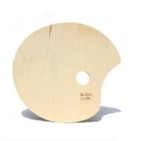 马利 G83304全椴木大椭圆调色板 木质调色板 油画颜料调色板