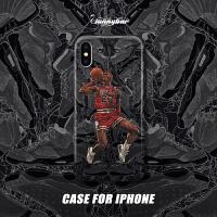 20190702024202758原创NBA篮球AJ4乔丹iPhoneXsMax手机壳Xr保护壳苹果8plus硅胶7软