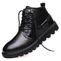 波图蕾斯男靴皮鞋男士英伦马丁靴特种兵军靴户外工装靴高帮鞋男棉鞋保暖鞋雪地鞋DF5677