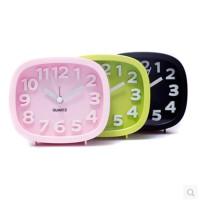 静音长方形数字立体闹钟 迷你卧室台钟 简约儿童小闹钟 两款规格可选