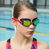 高清电镀游泳镜 近视泳镜 男女专业度数平光游泳眼镜