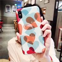 亮面X手机壳少女苹果7/8plus蓝光软壳6/6s全包爱心i8潮女款 iphoneX 蓝光爱心