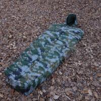 丛林迷彩棉睡袋冬季木乃伊加厚保暖旅行七孔棉单大人棉被