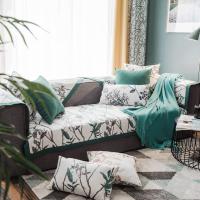 美式雪尼尔沙发垫防滑简约现代四季通用客厅坐垫组合沙发罩巾套