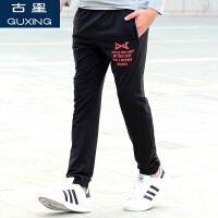 秋冬新款男士运动裤加绒保暖长裤子宽松大码直筒休闲裤束脚潮卫裤