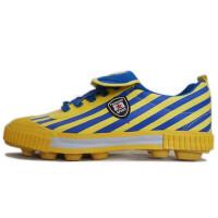 双星成人帆布足球鞋儿童炫彩足球鞋防滑耐磨炫彩运动鞋