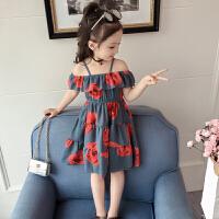 女童连衣裙新款夏装童装女大童吊带公主裙夏季儿童洋气裙子潮