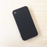 20190529233123495iPhone4S手机壳软卡通苹果4手机套硅胶磨砂黑保护简约透明4S男女 黑色 苹果4