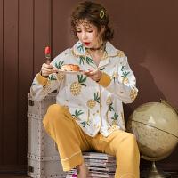 秋天睡衣女长袖套装韩版甜美可爱胡萝卜两件套秋冬宽松家居服