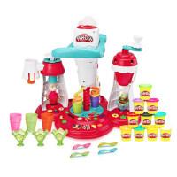 培乐多彩泥创意厨房冰激凌旋风橡皮泥儿童雪糕机玩具