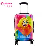 diplomat外交官 emoji movie联名产品 行李箱 旅行箱 拉杆箱 登机箱